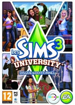 Les Sims 3 University_COVER_PC